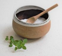 Morgan Wright Stoneware Salt Cellar / Dip Bowl with Spoon