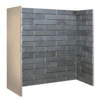 Porcelain Slate Brick Bond Chamber