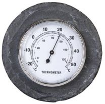 Round Slate Thermometer