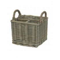 Small Antique Wash Willow Cutlery Basket