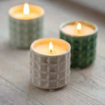 Garden Trading Sorrento Candle Hay Meadow in Stone - Ceramic