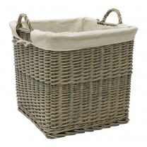 Dewi Valley Square Lined Log Basket