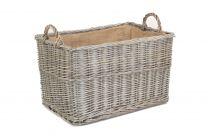 Willow Direct Large Antique Wash Rectangular Basket  1