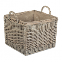 Medium Square Lined Wicker Log Basket