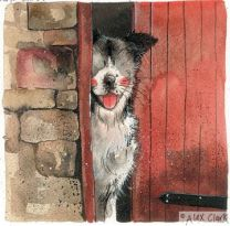 Alex Clark 'Stable door' print  - Working Sheepdog