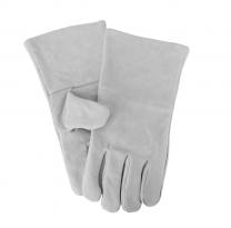 Grey heat resistant stove gloves