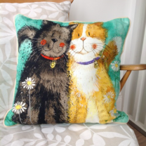 Alex Clark Toffee & Treacle Cushion - 45cm x 45cm