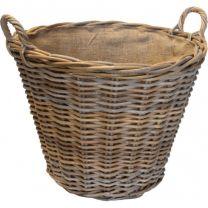 Sandon Round Lined Log Basket