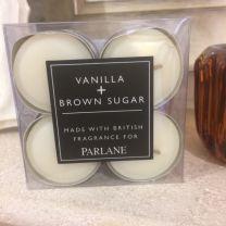 Parlane Vanilla & Brown Sugar Tealight Candles 12pk