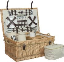 Deluxe 6 person hamper in buff willow - 6 person