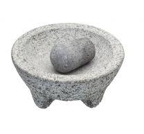 Footed Granite Mortar & Pestle