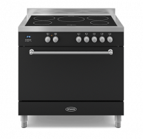 Britannia Wyre 90 Induction with Single Oven - Black