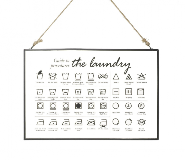 Parlane Laundry Guide Glass Hanger