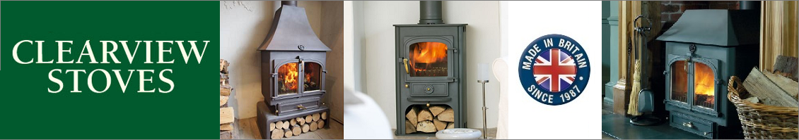 Clearview Stoves Banner & logo
