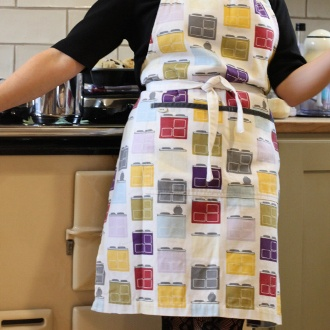 Aprons teatowels and oven gloves